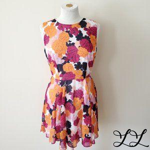 Maison Jules Dress Pink Orange Blue White Floral